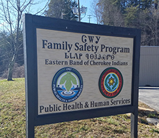 Family Safety Program Sign