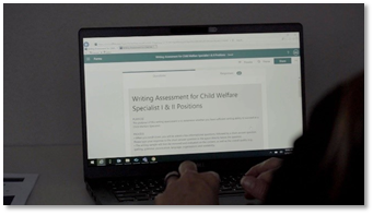 laptop monitor displaying website