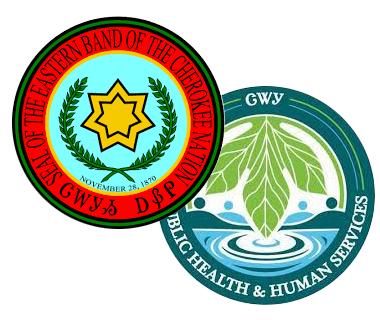 EBCI logo and EBCI PHHS logo