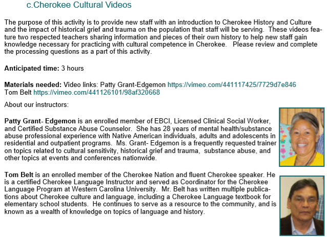Eastern Band of Cherokee Indians Onboarding Manual
